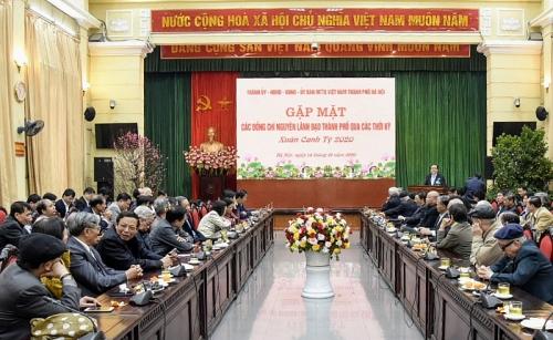Hà Nội gặp mặt các đồng chí nguyên lãnh đạo Thành phố nhân dịp Xuân Canh Tý 2020