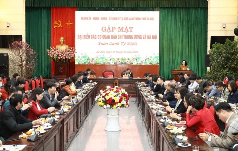 Hà Nội gặp mặt báo chí nhân dịp Xuân Canh Tý 2020