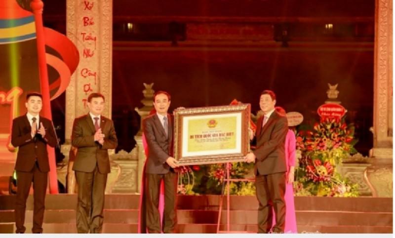 Địa điểm Chiến thắng Xương Giang đón nhận Bằng xếp hạng di tích Quốc gia đặc biệt