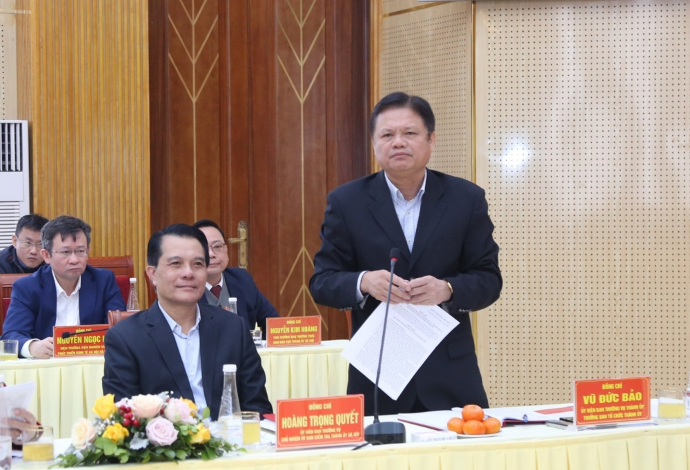 Bí thư Thành ủy Hà Nội Vương Đình Huệ: Gỡ vướng mắc để sớm thực hiện các dự án động lực phát triển