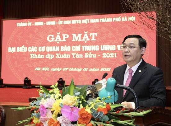 Bí thư Thành ủy Vương Đình Huệ: Tạo mọi điều kiện cho báo chí hoạt động
