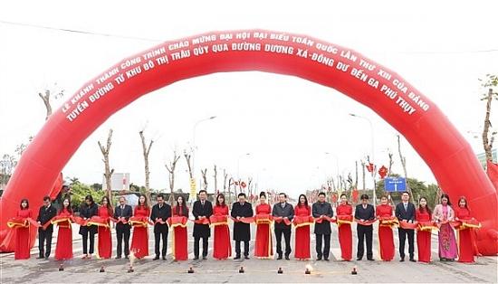 Khánh thành, khởi công hàng loạt dự án hạ tầng giao thông tại huyện Gia Lâm