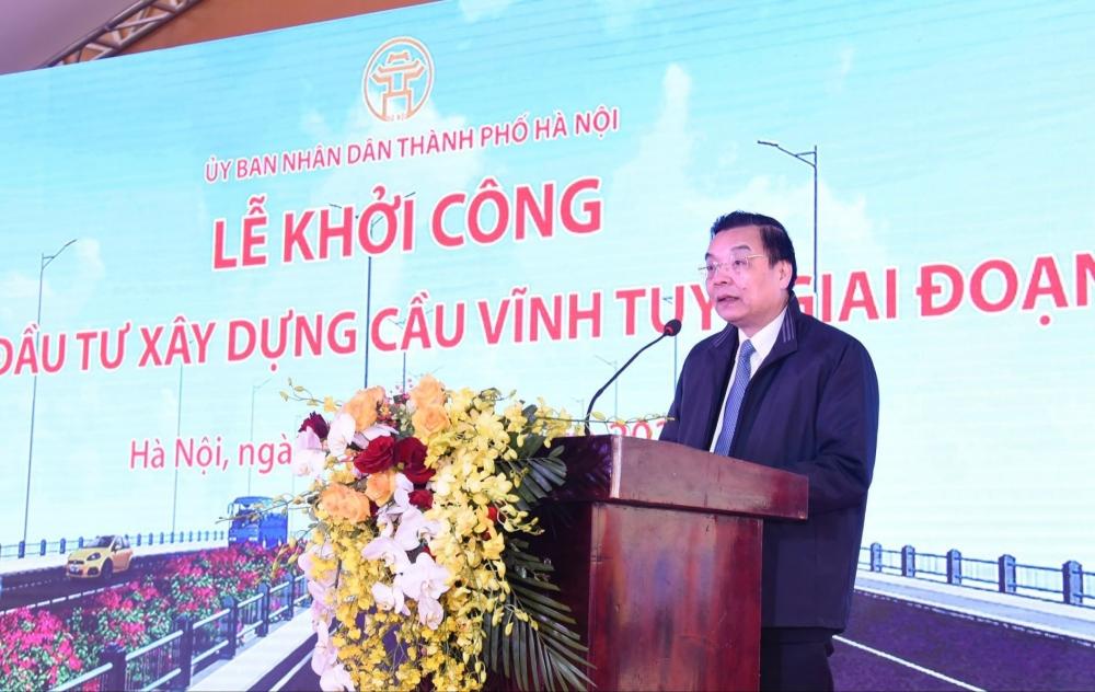 Chủ tịch Ủy ban nhân dân thành phố Hà Nội Chu Ngọc Anh phát biểu chỉ đạo