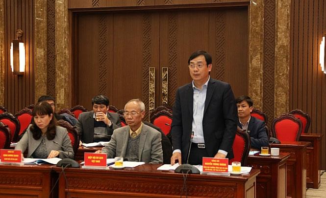 Tổng Cục trưởng Tổng cục Du lịch Nguyễn Trùng Khánh phát biểu tại buổi làm việc
