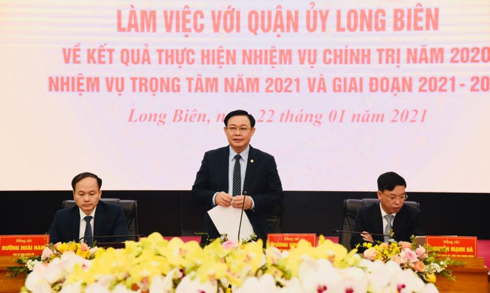 Bí thư Thành ủy Hà Nội Vương Đình Huệ phát biểu kết luận