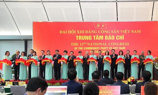 Khai trương Trung tâm Báo chí phục vụ Đại hội XIII của Đảng