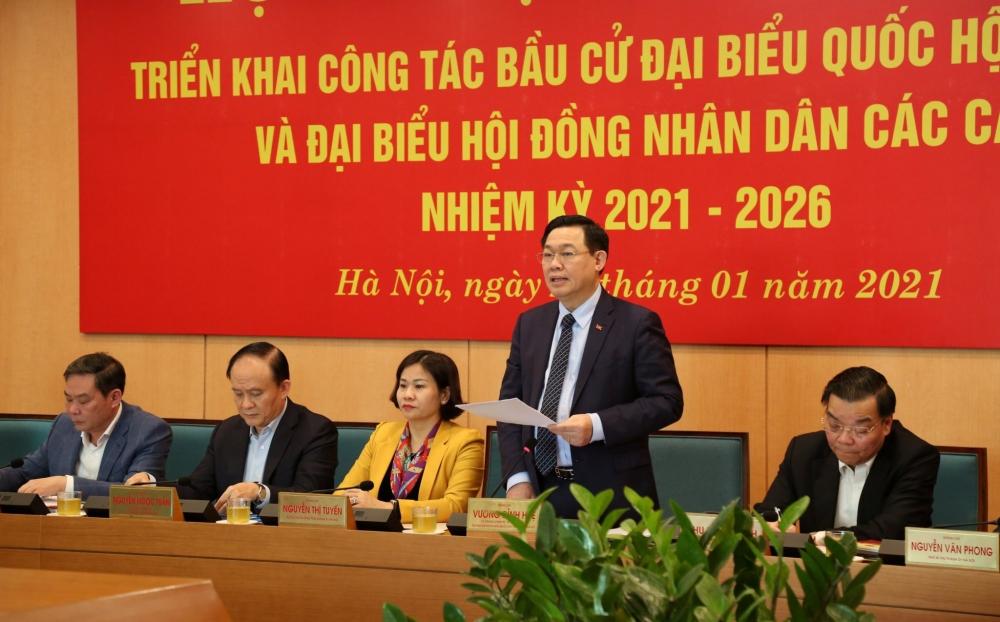 Hà Nội: Tổ chức cuộc bầu cử phải bảo đảm thành công trọn vẹn