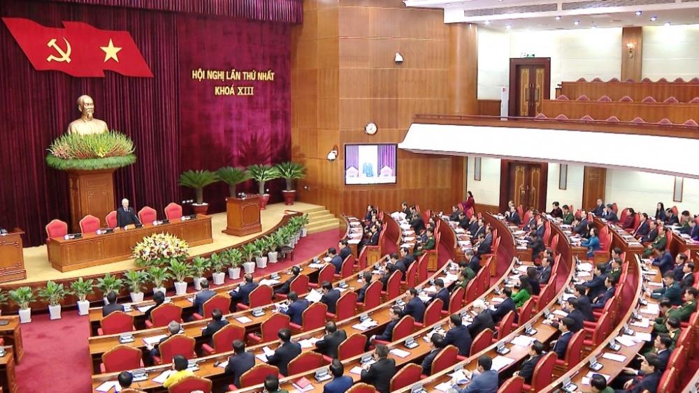 Sáng 31/1, Ban Chấp hành Trung ương Đảng khóa XIII họp Hội nghị lần thứ nhất khai mạc tại Hà Nội.