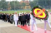 Lãnh đạo Đảng, Nhà nước và TP Hà Nội viếng Chủ tịch Hồ Chí Minh và các Anh hùng, Liệt sĩ