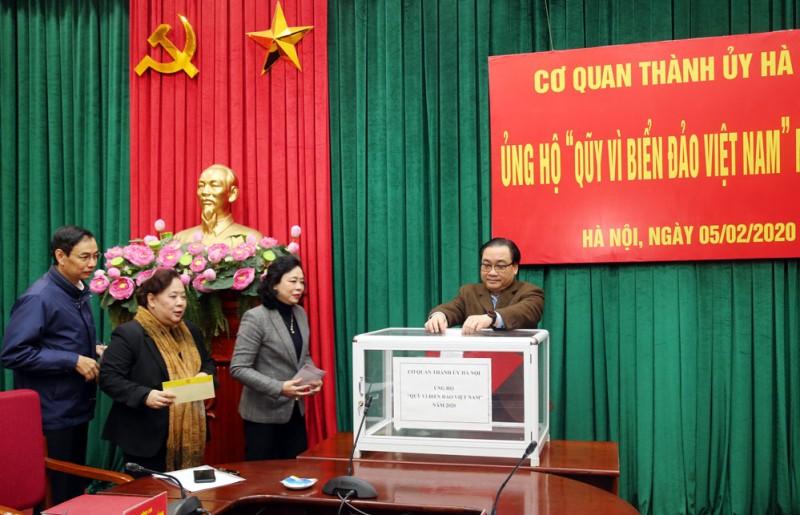 """Hà Nội quyên góp ủng hộ Quỹ """"Vì biển, đảo Việt Nam"""" năm 2020"""
