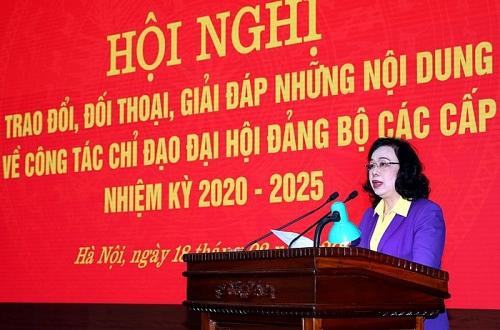 Phó Bí thư Thường trực Thành ủy Hà Nội: Không vì cơ cấu mà đưa vào cấp uỷ những người cơ hội