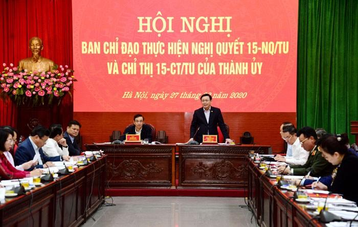 Bí thư Thành ủy Vương Đình Huệ: Cần dự báo tình hình đơn thư khiếu nại tố cáo