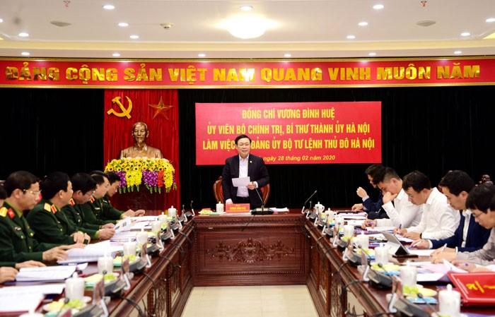 Bí thư Thành ủy Hà Nội: Tổ chức đại hội gắn với nhiệm vụ quân sự, quốc phòng