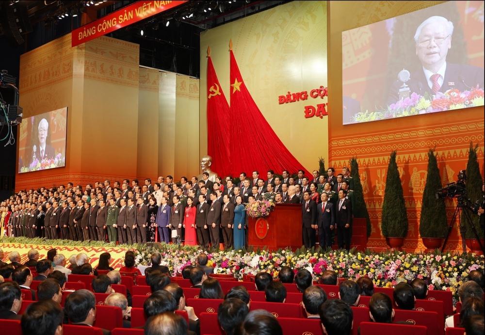 Một số hình ảnh phiên Bế mạc Đại hội XIII của Đảng