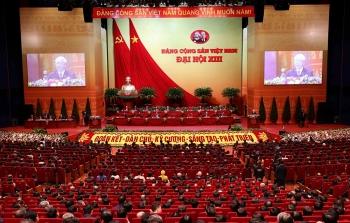 Toàn cảnh phiên Bế mạc Đại hội XIII của Đảng
