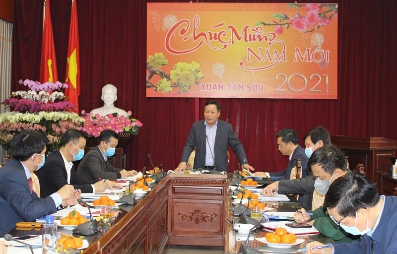 Phó Bí thư Thành ủy Hà Nội Nguyễn Văn Phong phát biểu chỉ đạo