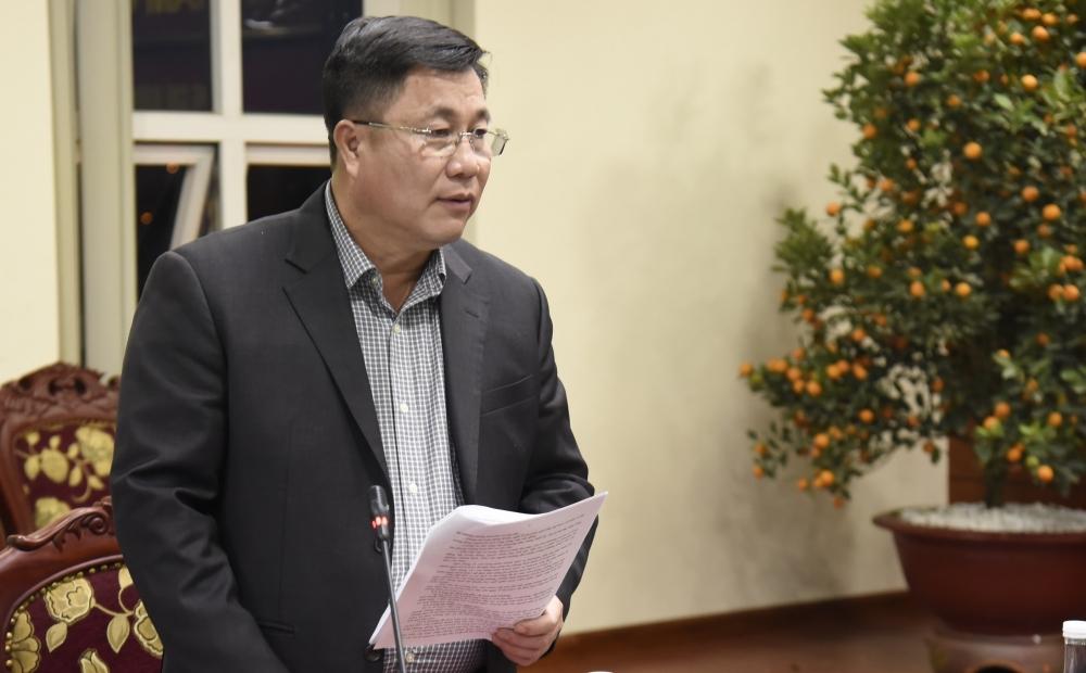 Bí thư Quận ủy Hoàng Mai Nguyễn Quang Hiếu báo cáo công tác phòng, chống Covid-19