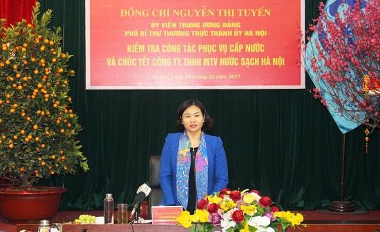 Phó Bí thư Thường trực Thành ủy Nguyễn Thị Tuyến kiểm tra công tác phục vụ Tết