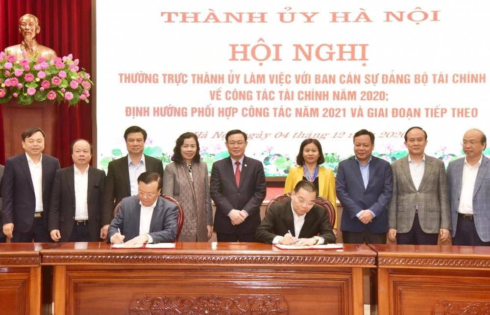 Thành phố Hà Nội và Bộ Tài chính tăng cường hợp tác