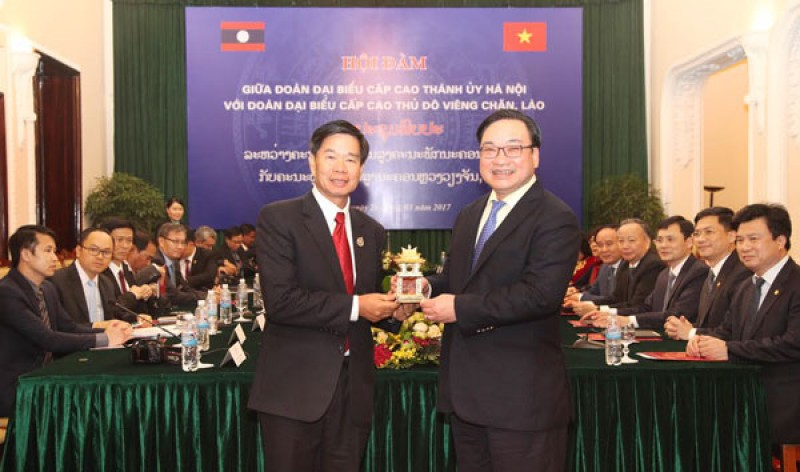 Hà Nội và Thủ đô Viêng Chăn tăng cường hợp tác phát triển