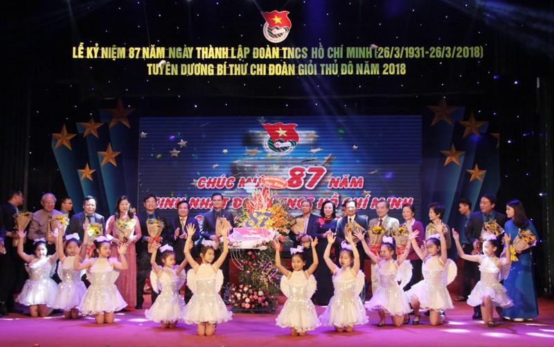 Thành đoàn Hà Nội tổ chức lễ kỷ niệm 87 năm Ngày thành lập Đoàn