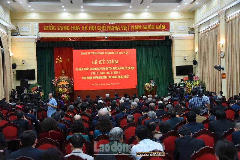 Ban Tuyên giáo Thành ủy Hà Nội kỷ niệm 70 năm ngày thành lập