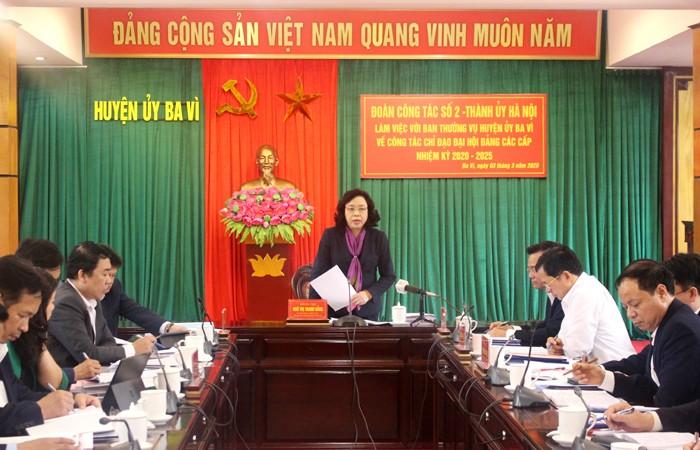 Phó Bí thư Thường trực Thành ủy Hà Nội: Kiên quyết không đưa người không đủ tiêu chuẩn vào cấp ủy