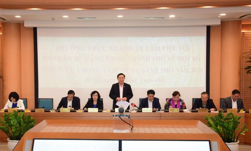 Bí thư Thành ủy Hà Nội: Kiểm soát tốt dịch Covid-19 sẽ phục hồi nền kinh tế Thủ đô