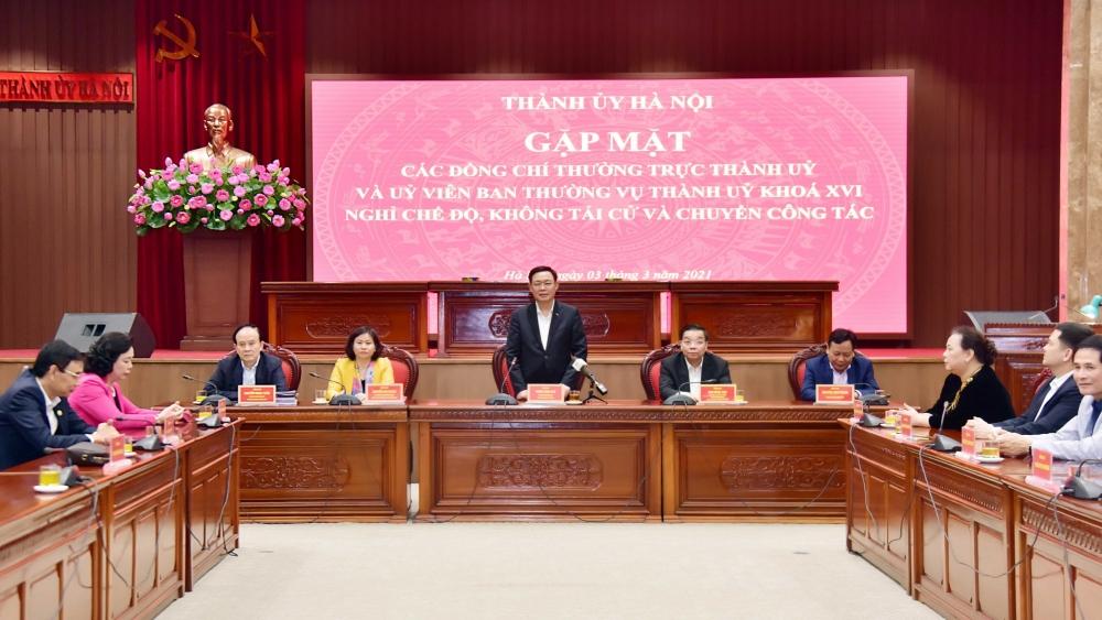 Hà Nội: Gặp mặt thân mật các nguyên lãnh đạo không tái cử khóa XVII