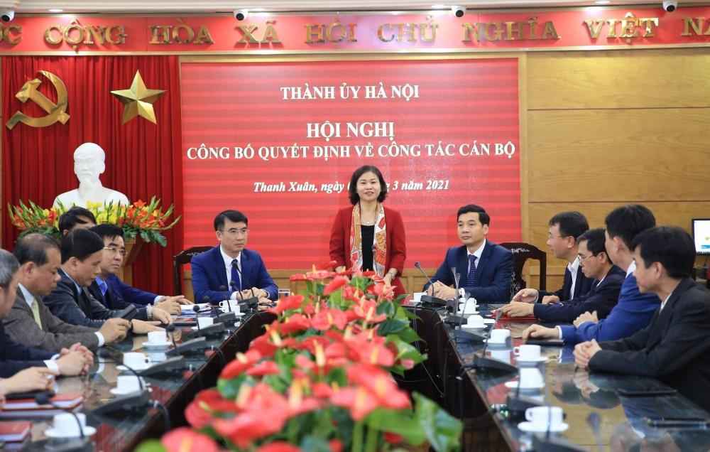 Hà Nội: Điều động Bí thư Quận ủy Thanh Xuân làm Giám đốc Sở Tài chính