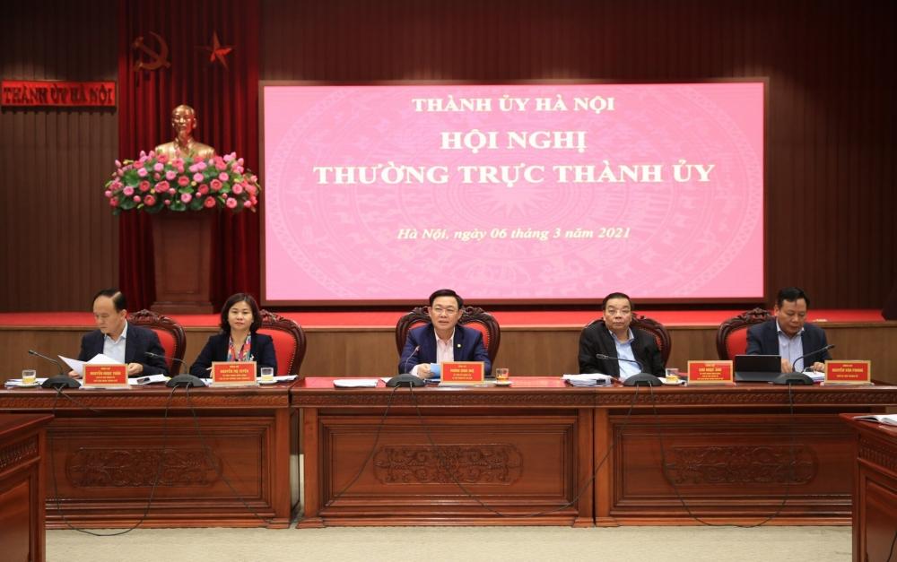 Hà Nội: Thường trực Thành ủy nhất trí cao với dự thảo 6 chương trình công tác toàn khóa