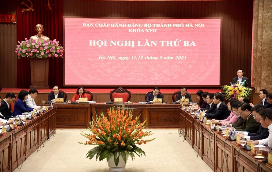 Hội nghị lần thứ ba Ban Chấp hành Đảng bộ thành phố Hà Nội khóa XVII, ngày 11/3/2021