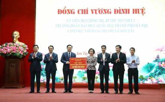 Bí thư Thành ủy Vương Đình Huệ: Phát triển thị xã Sơn Tây xứng danh vùng