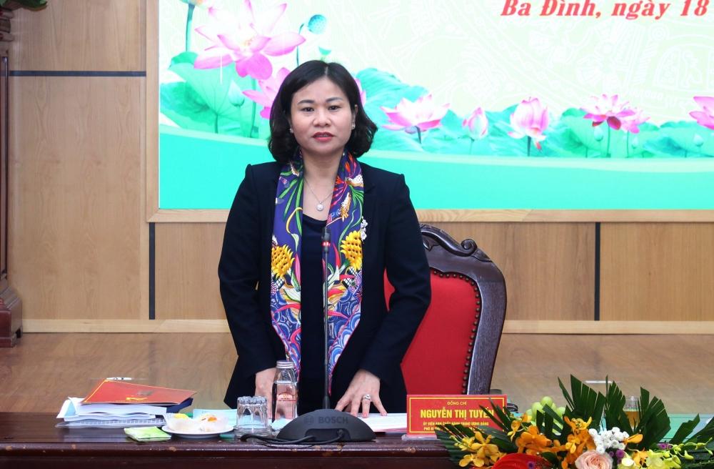 Phó Bí thư Thường trực Thành uỷ Hà Nội Nguyễn Thị Tuyến phát biểu chỉ đạo