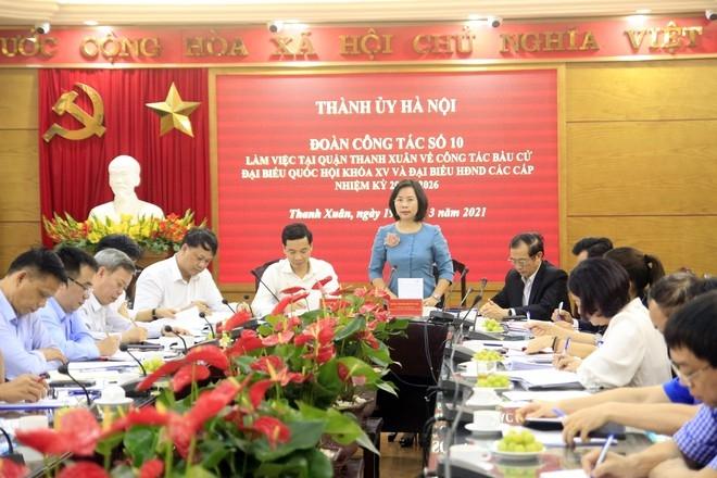 Trưởng Ban Tuyên giáo Thành ủy Bùi Huyền Mai phát biểu chỉ đạo