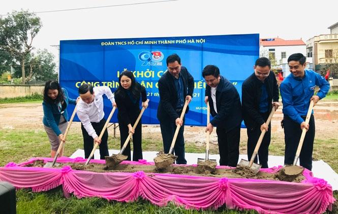 Khởi công xây dựng sân chơi thiếu nhi tại xã Lê Lợi (huyện Thường Tín).