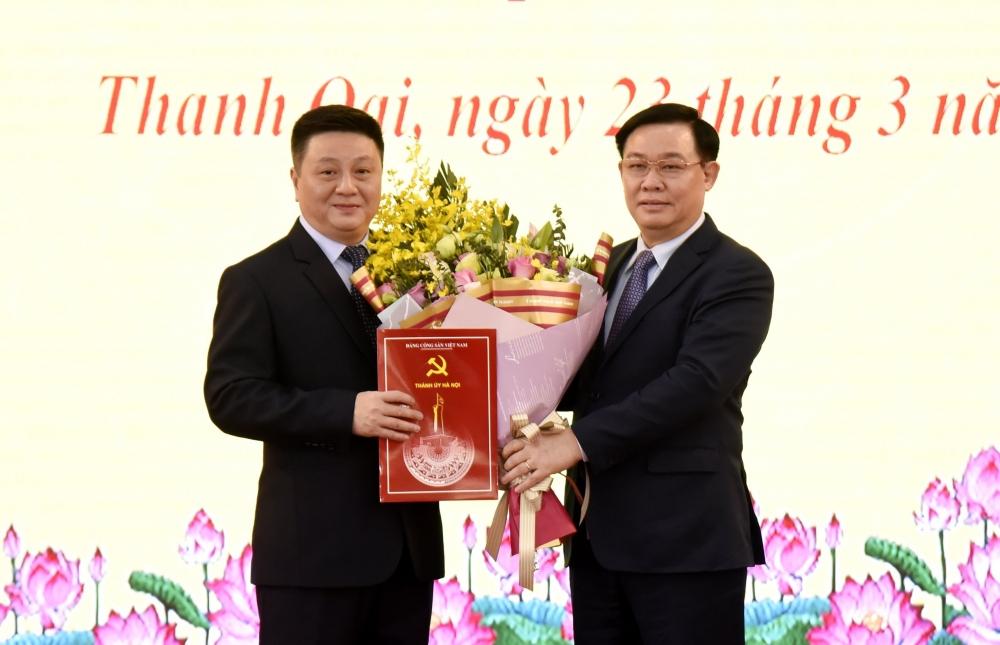 Ông Bùi Hoàng Phan làm Bí thư Huyện ủy Thanh Oai