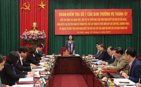 Phó Bí thư Thường trực Thành ủy Hà Nội: Quan tâm đến công tác giám sát và quản lý đảng viên