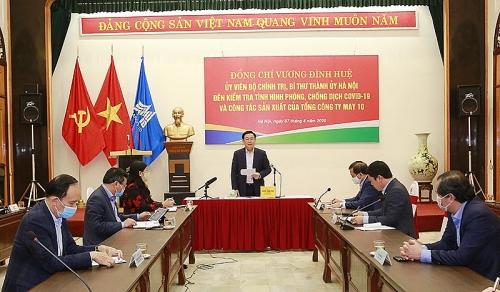 Bí thư Thành ủy Hà Nội: Thành lập tổ phản ứng nhanh kiểm tra việc chống dịch Covid-19 của doanh nghiệp