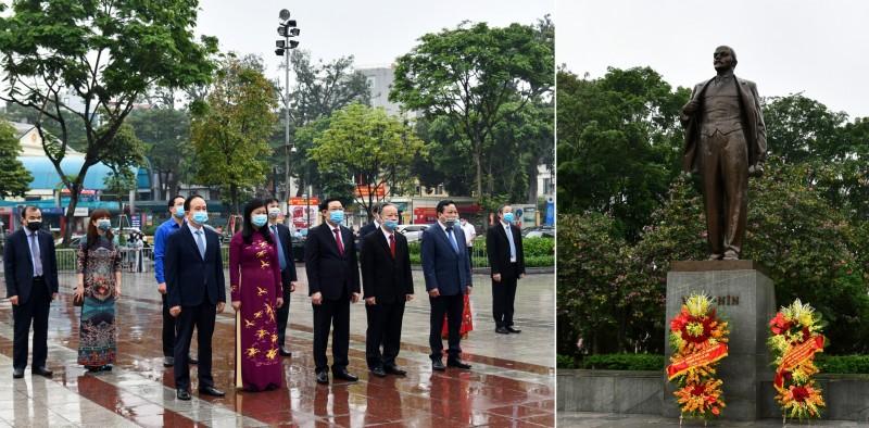 Lãnh đạo thành phố Hà Nội dâng hoa kỷ niệm 150 năm Ngày sinh V.I.Lenin