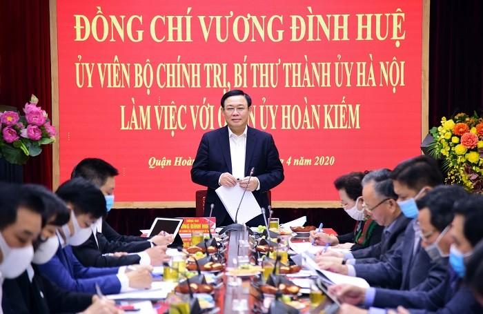 Bí thư Thành ủy Hà Nội: Nới lỏng giãn cách xã hội nhưng tuyệt đối không được lơi lỏng