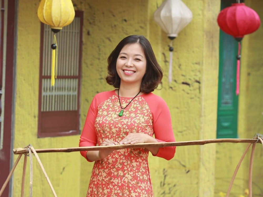 Cô giáo Nguyễn Thị Lựu, Chủ tịch công đoàn, Phó Hiệu trưởng trường Mầm non Phương Trung I