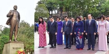 Lãnh đạo thành phố Hà Nội dâng hoa tưởng nhớ lãnh tụ cộng sản V.I.Lênin
