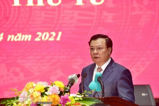 Bí thư Thành ủy Hà Nội kêu gọi cán bộ, đảng viên tiên phong, gương mẫu thực hiện nhiệm vụ