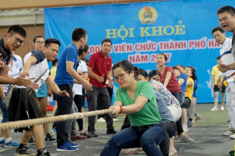 Sôi nổi Hội khỏe CĐ viên chức TP Hà Nội 2017