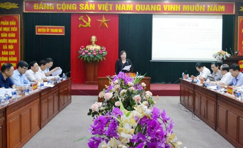 Huyện Thanh Oai cần có giải pháp phát triển kinh tế nhanh và bền vững