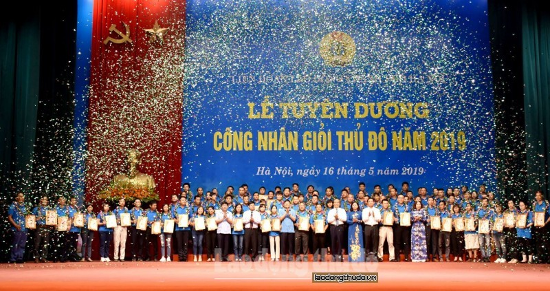Tuyên dương 90 Công nhân giỏi Thủ đô năm 2019