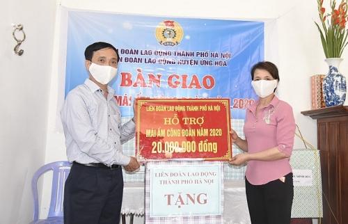 Khánh thành Mái ấm Công đoàn cho cô giáo mầm non ở huyện Ứng Hòa