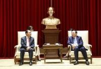 Bí thư Thành ủy Vương Đình Huệ tiếp Đại sứ Hàn Quốc Park Noh-wan