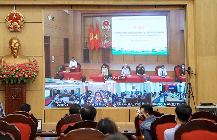 Hội nghị tiếp xúc cử tri theo hình thức trực tuyến từ quận Ba Đình tới các điểm cầu cơ sở
